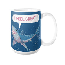 Great White Shark Feels Great! Coffee Mug 15oz - Sharptooth Snail