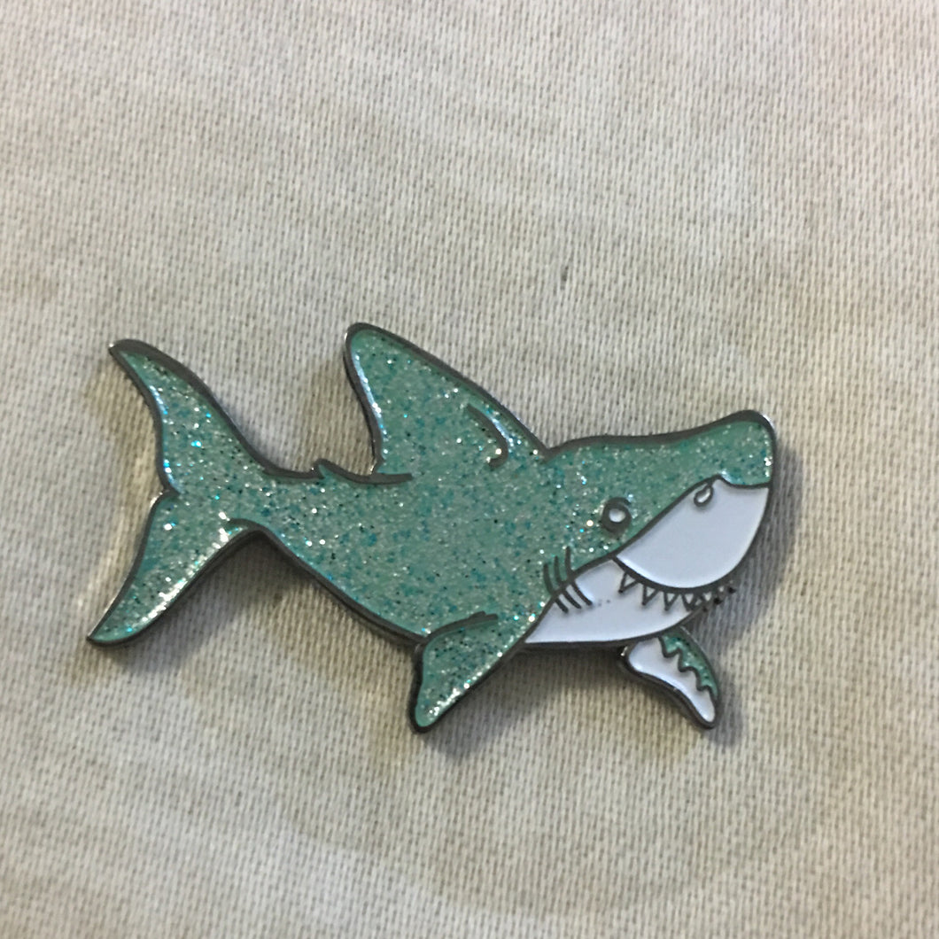 Sparkle Shark Enamel Pin