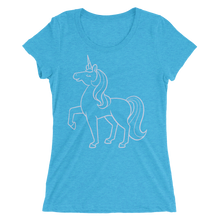 Lilac Unicorn lineart Short sleeve women's t-shirt