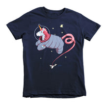 Space Unicorn Princess Astronaut Short sleeve kids t-shirt