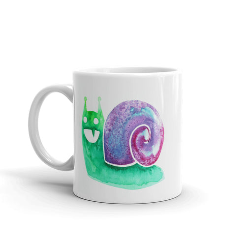 Sharptooth Snail Watercolor Coffee Mug