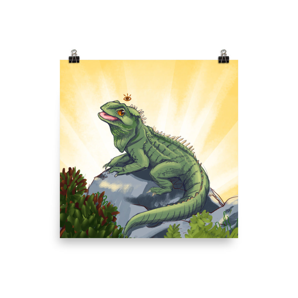 Magnificent Tuatara Print