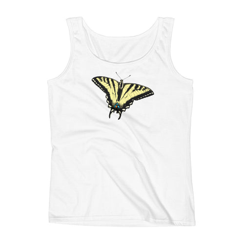 Yellow Swallowtail Butterfly Ladies' Tank
