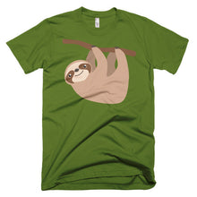 Cute Sloth on a Branch Short sleeve men's t-shirt