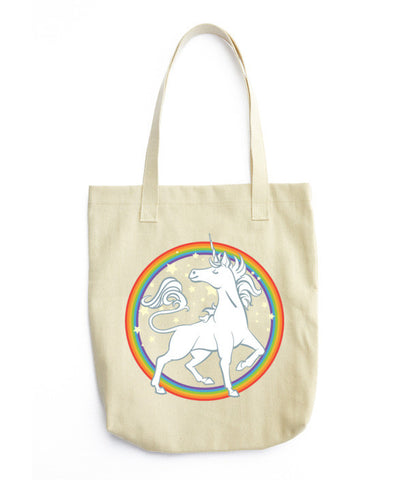 Starry Rainbow Unicorn Tote bag