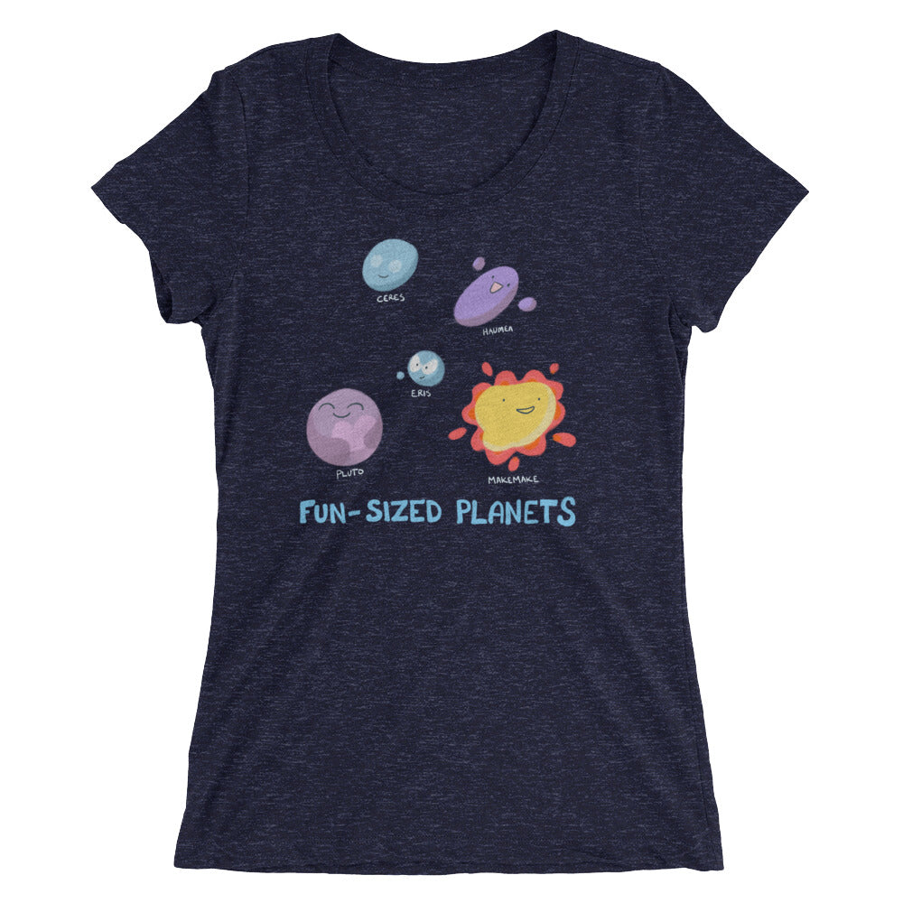 Fun-Sized Planets Ladies' short sleeve t-shirt