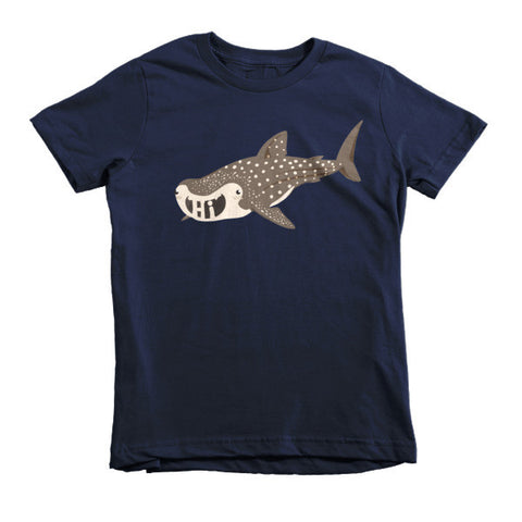 "Whale Shark ""Hi"" Short sleeve kids t-shirt"