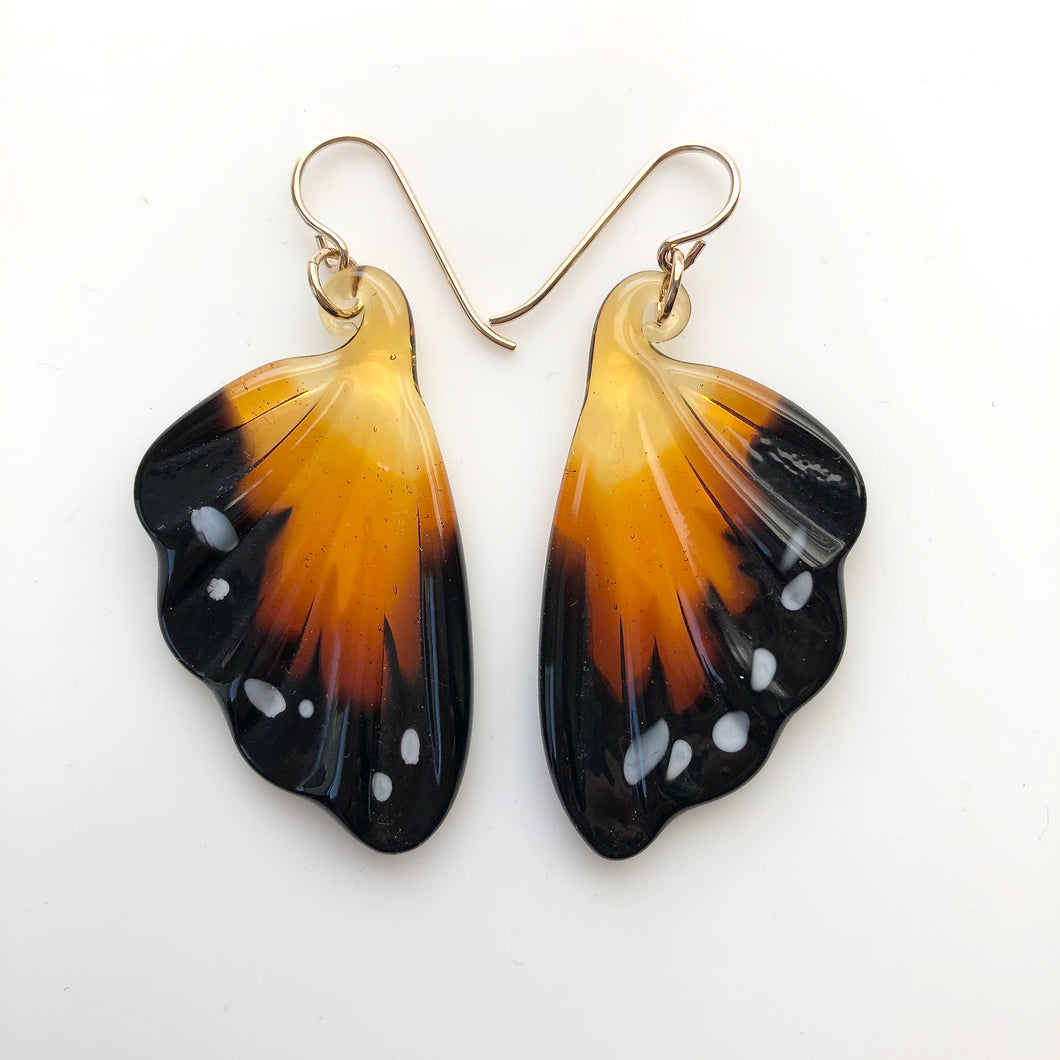 Monarch Glass Butterfly Earrings