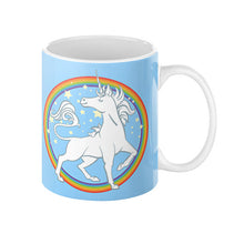 Sparkly Rainbow Unicorn Coffee Mug 11oz - Sharptooth Snail