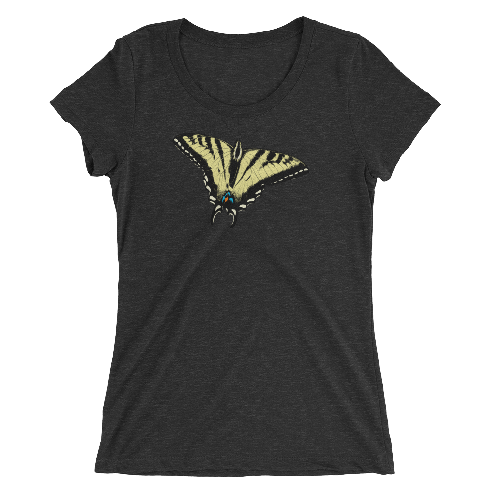 Western Tiger Swallowtail Butterfly Short sleeve women's t-shirt