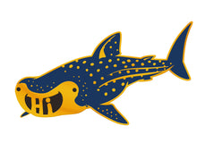 "Whale Shark ""Hi"" Enamel Pin"