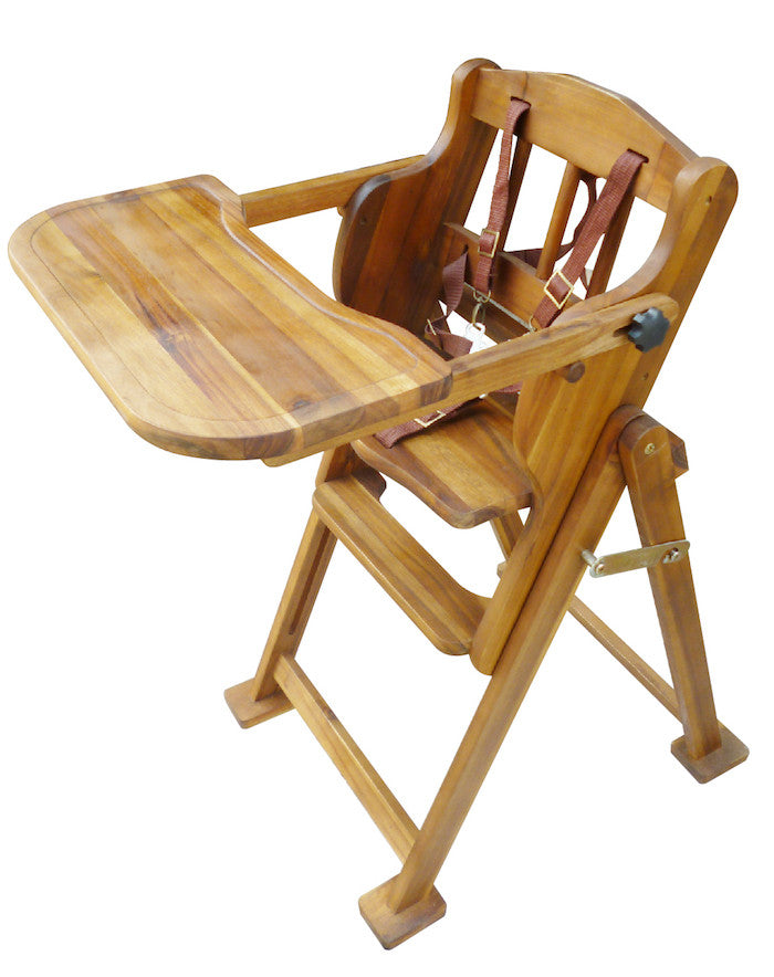 Classic Handmade Wooden High chair for baby boy and girl.