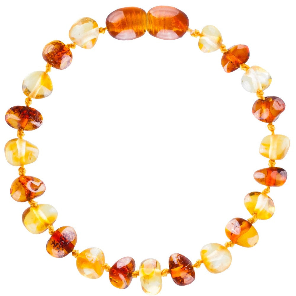 New Arrival - Baby Baltic Amber teething necklace and Bracelet - Cognac and lemon
