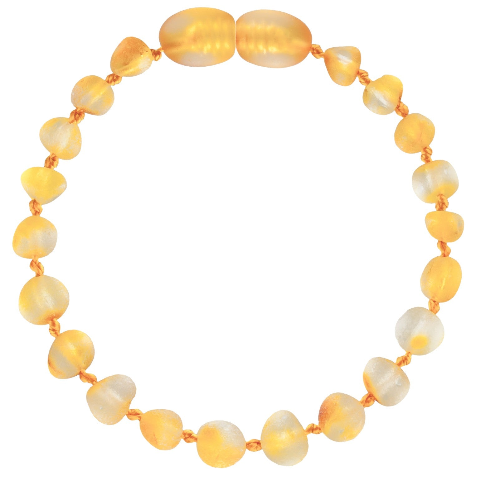 Unpolished Lemon Amber baby Bracelet