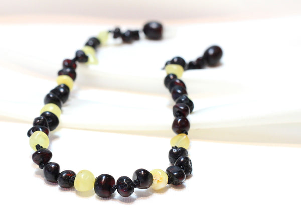 "Baltic Amber Teething baby Necklace - ""Teething Jewellery"