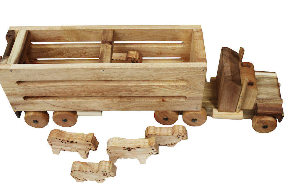 Classic Vintage style Cattle Wooden toy truck for Kids