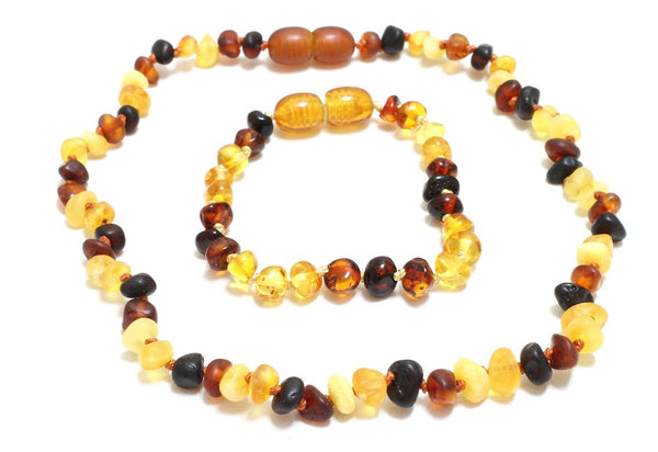 Amber Necklace and Bracelet