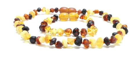 Amber teething necklace set
