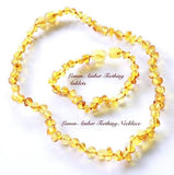 Lemon necklace and anklet