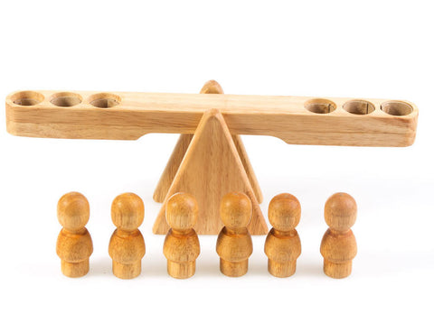 Natural Wooden Balancing Seesaw