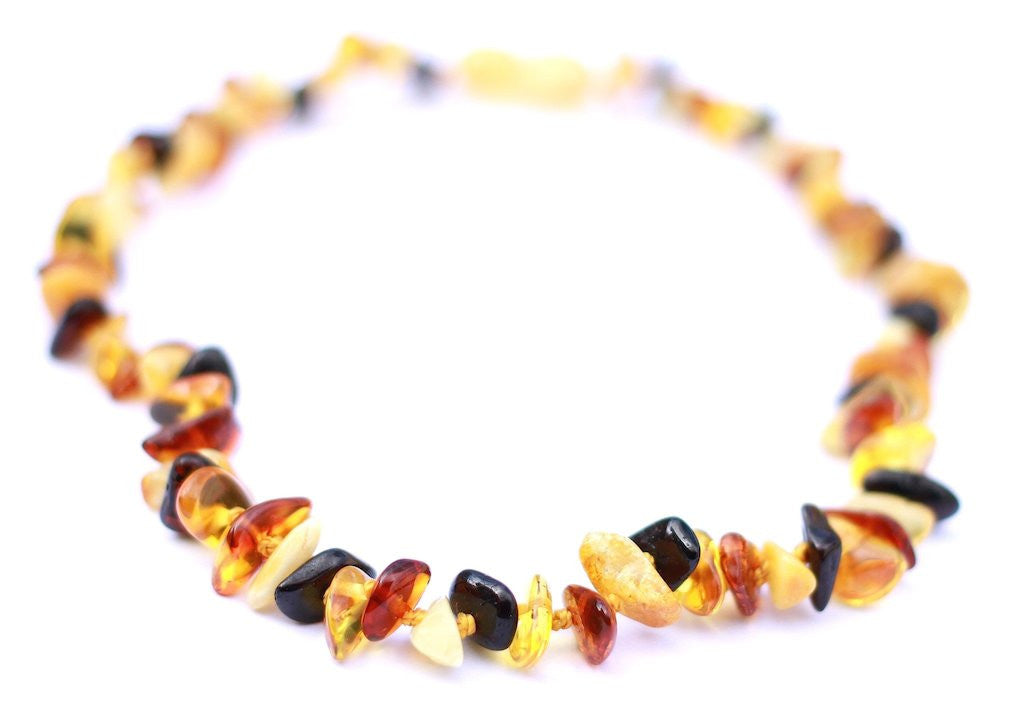 Baltic Amber Teething Necklace Multi four