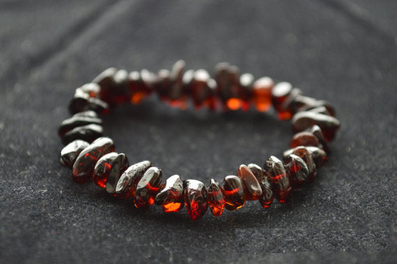 Baby Nuggets Cherry Baltic Amber Teething Bracelet