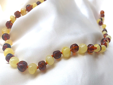 Gorgeous Adult Butter & Cognac Baltic Amber Necklace