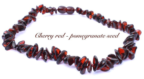 pomegranate Baltic Amber Necklace