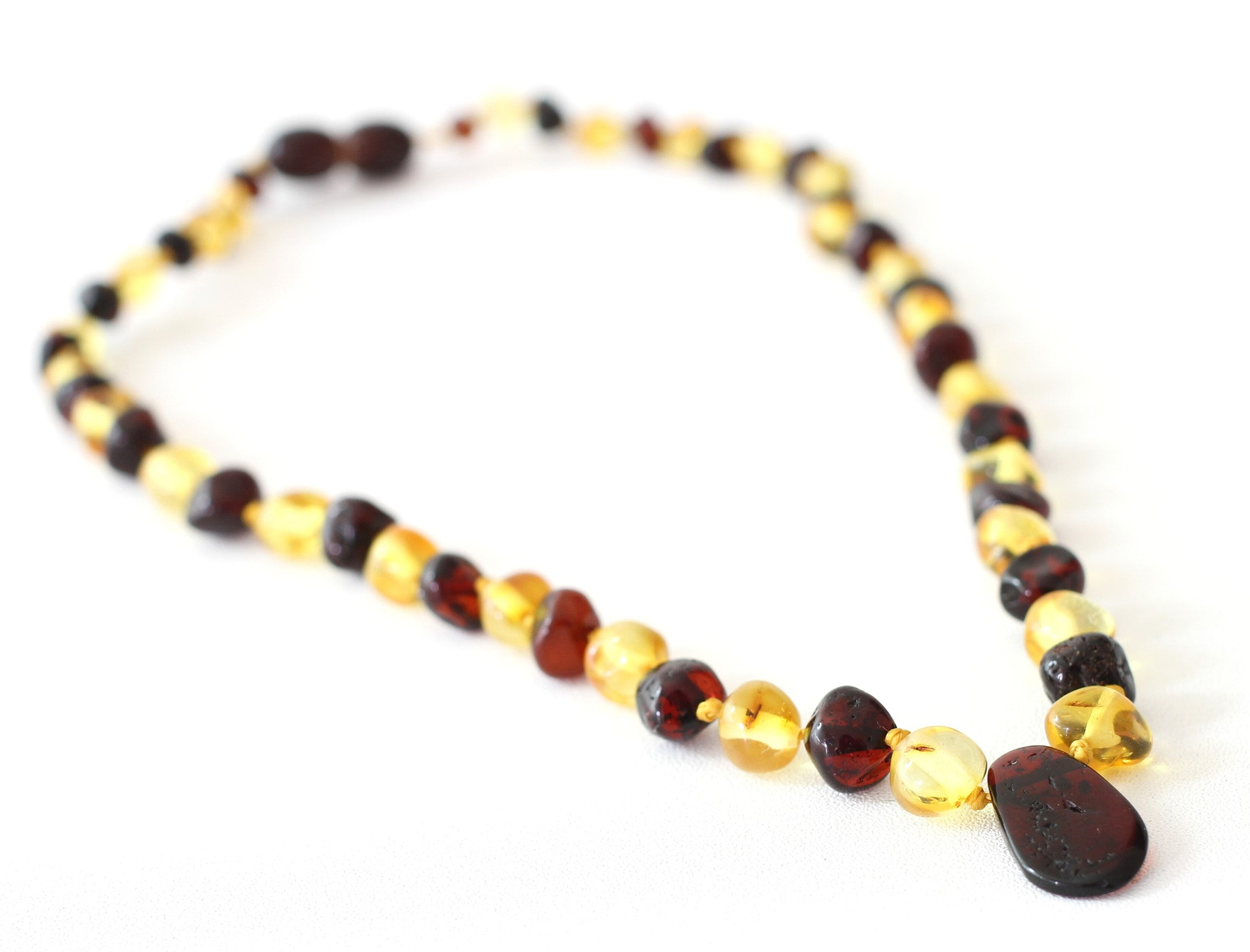 Baby Baltic Amber Necklace - Pendant
