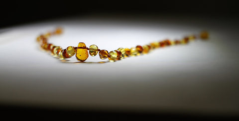 Baby Honey lemon Pendant bead Baltic Amber teething necklace | Free Shipping
