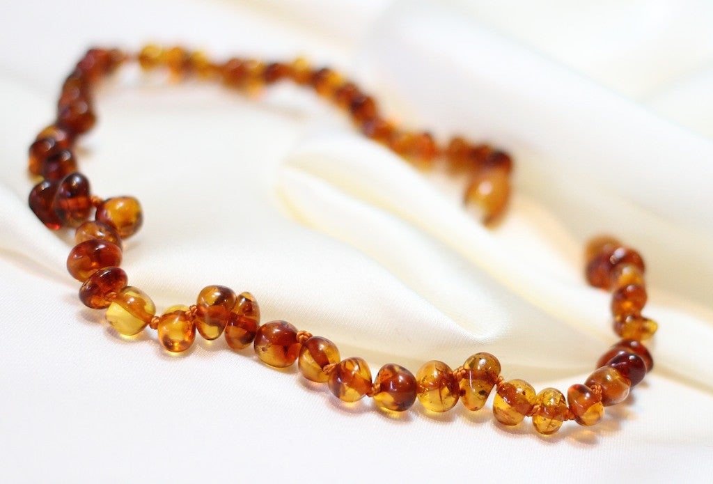 Set for Mother and Baby | Cognac Amber necklace