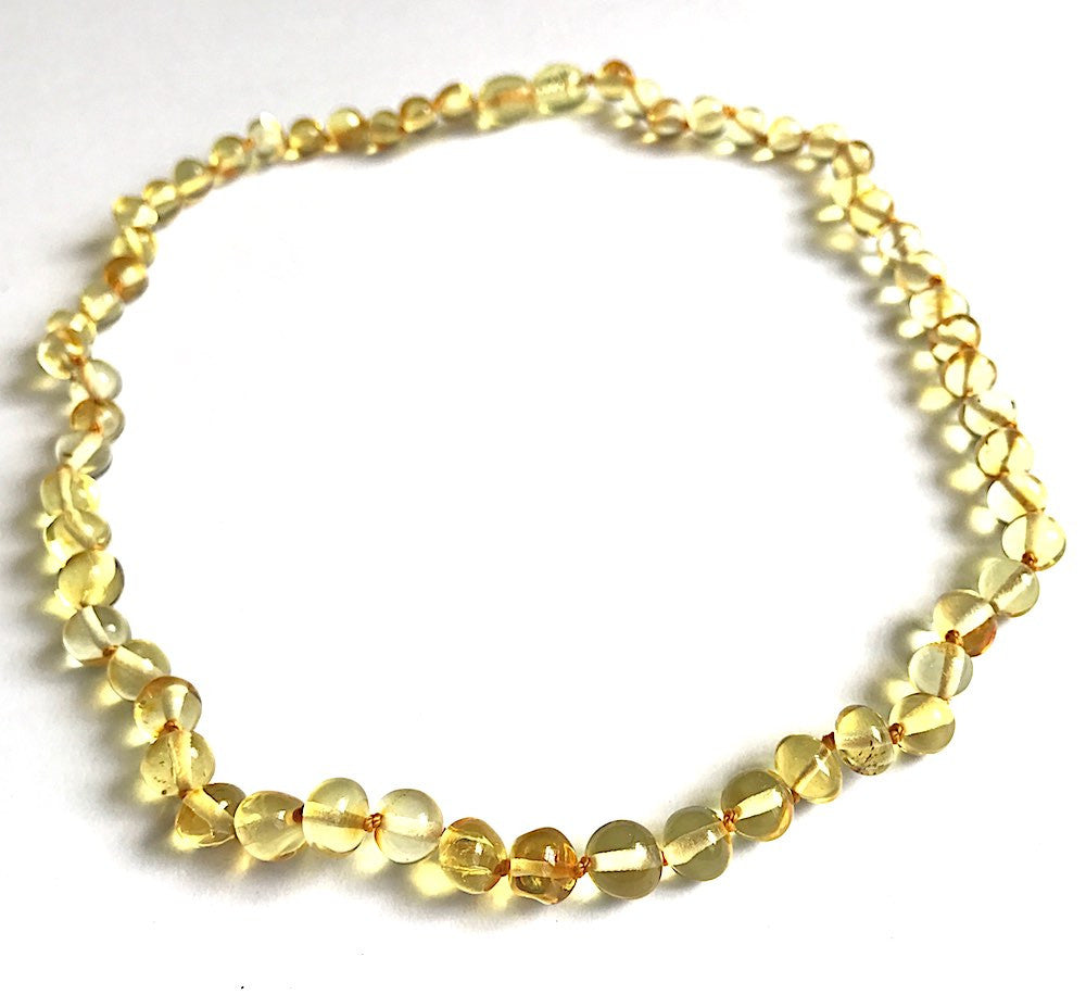 Set for Mother and Baby | Lemon Amber necklace