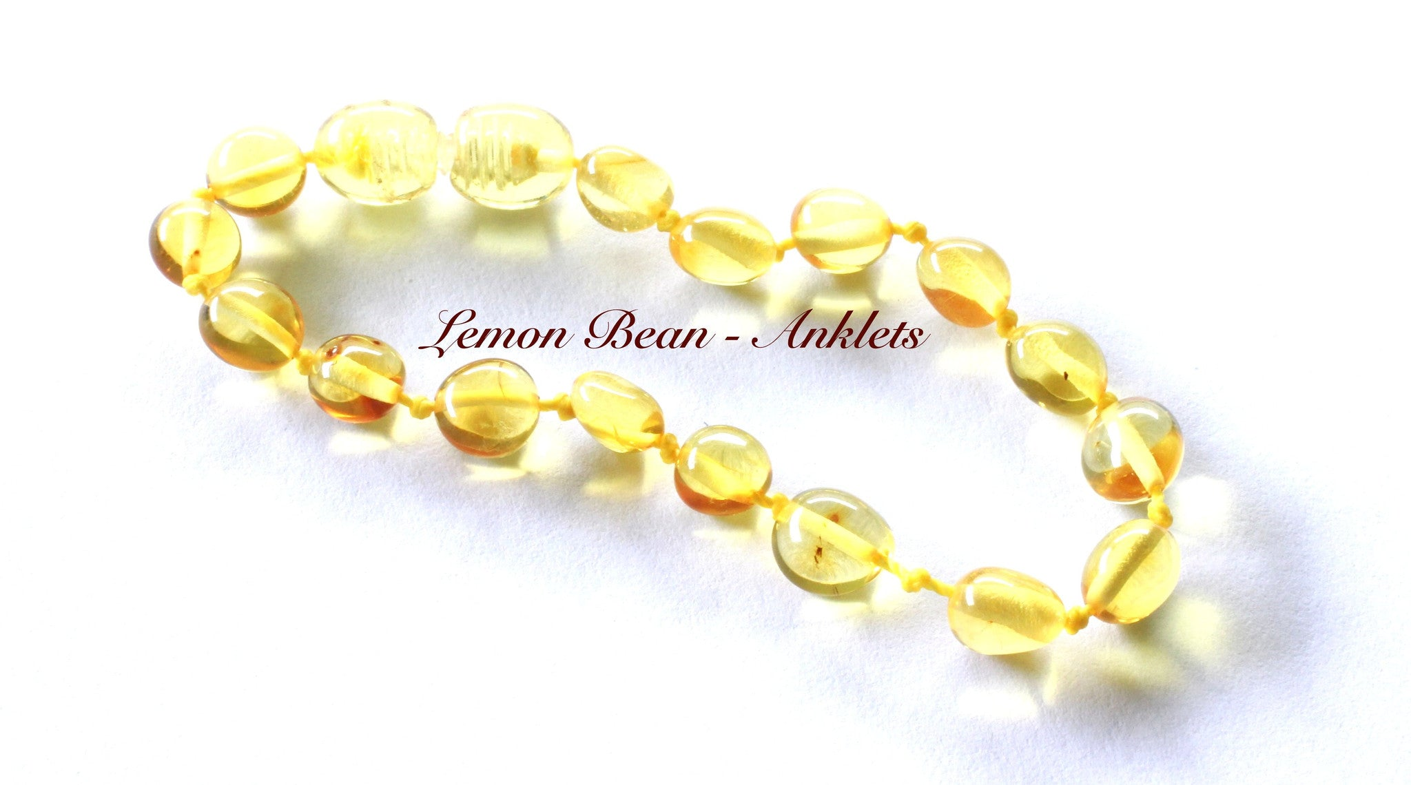 Baby Baltic Lemon Amber teething anklet