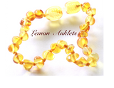 Lemon amber anklet for baby
