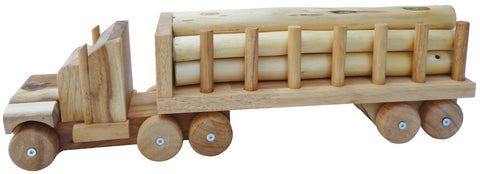 Long Wooden Truck Trailer for kids