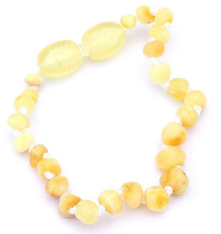 Baby Raw Unpolished Butter Ball Baltic Amber bracelet