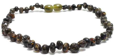 Passion fruit Amber teething necklace