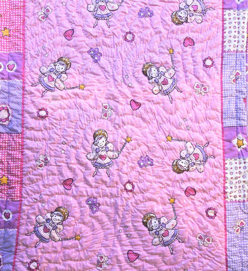100% Handmade Cotton Baby Quilt - Quilt for baby Girl