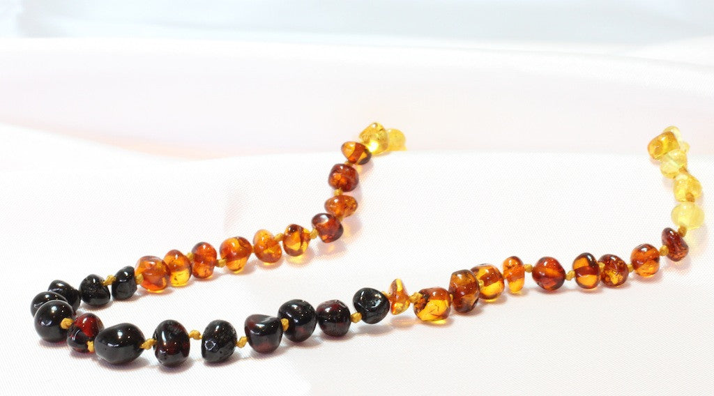 Rainbow Baltic Amber teething necklace