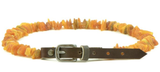 Amber Leather belt collar for Dog and Cat.
