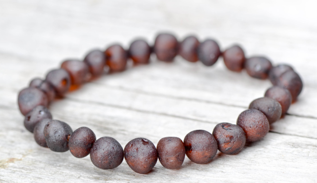 New Elastic Bracelet - Baby Baltic Cherry Amber
