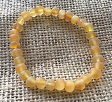 New Elastic Unpolished Honey Amber Anklet