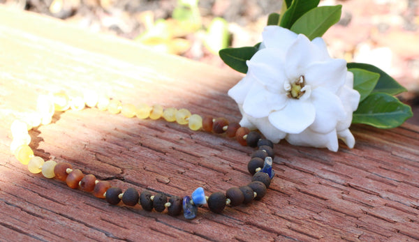 New Dusk & Dawn Baby Baltic Amber teething necklace -
