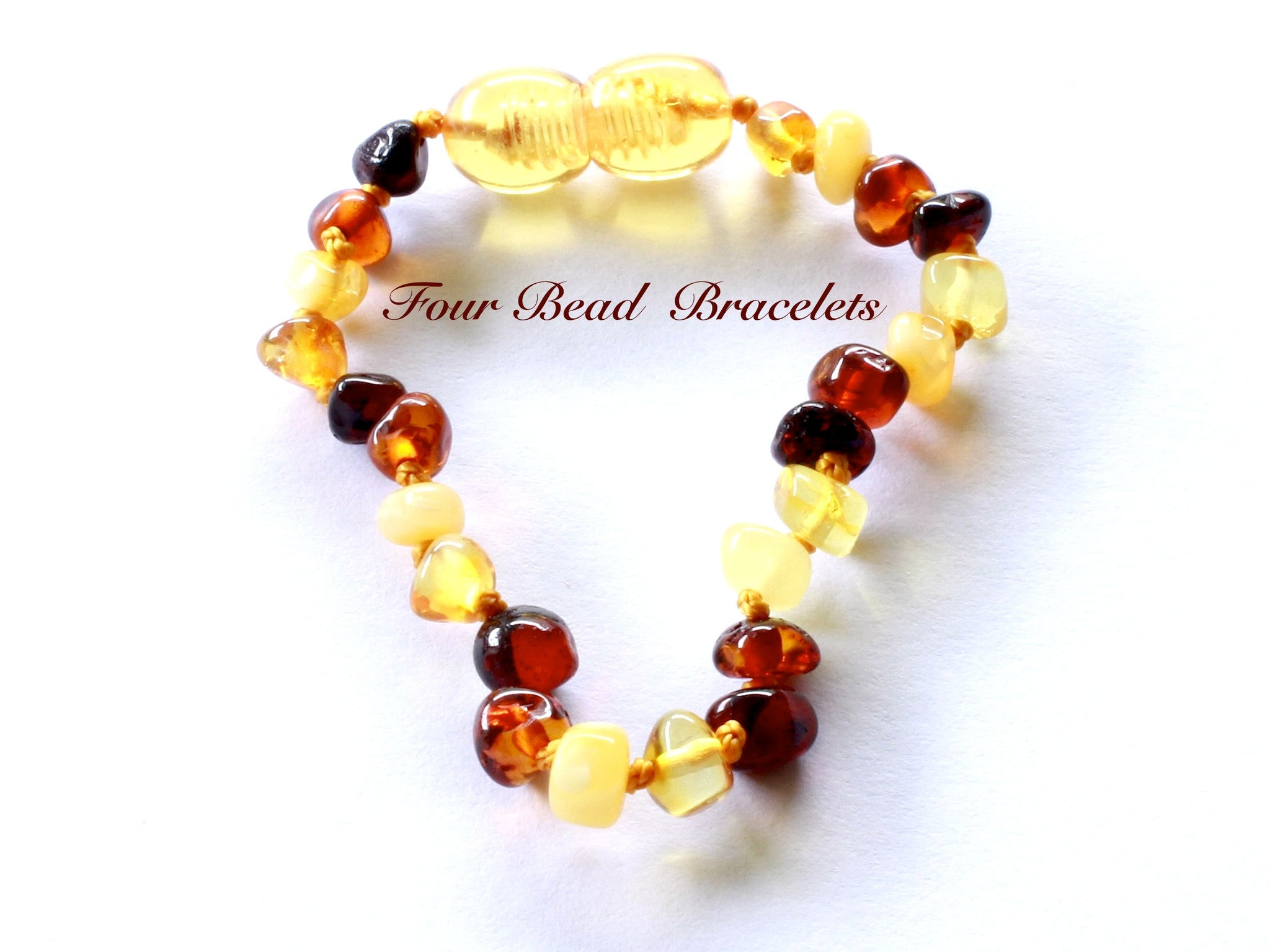 Multi Four Baltic Amber Teething baby Bracelet