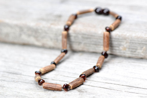 New Arrival - HAZELWOOD Cognac Baltic Amber Necklace - For Baby