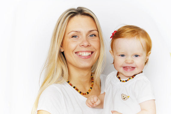 Set for Mother and Baby | Tutti Frutti round Baltic Amber