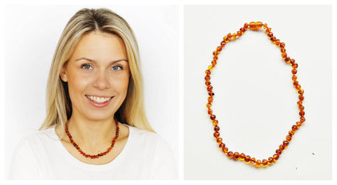 Gorgeous Adult Cognac Baltic Amber Necklace