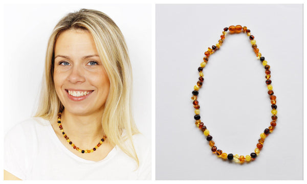 Amber necklace for Mother