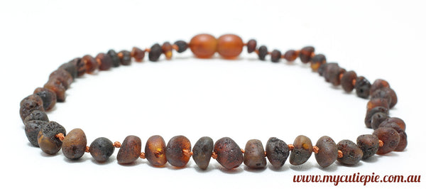 Unpolished Amber Teething necklace