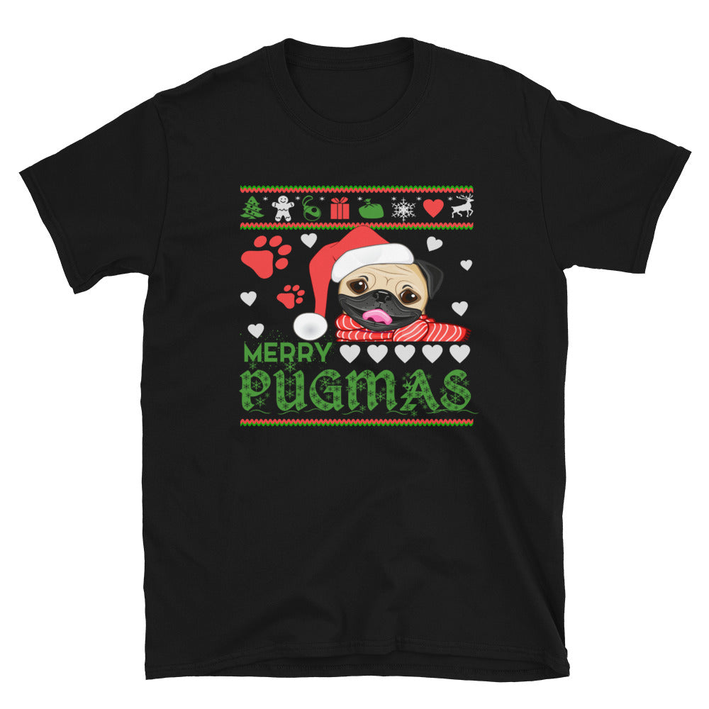 Marry Pugmas - Ugly-Tshirt - Short-Sleeve Unisex T-Shirt